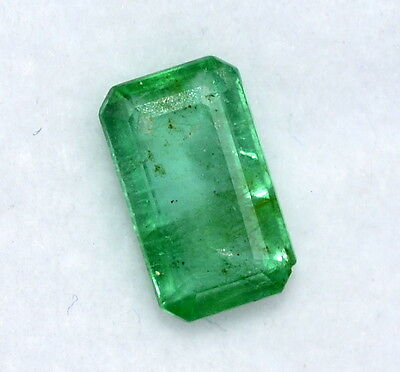 Certified Natural Emerald Octagon Cut 8.50*5 mm 1.20 Cts Unheated Loose Gemstone