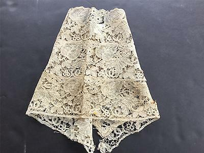 FABULOUS Handmade Fine French Honiton Lace Sleeves C. 1850-1890 VC8