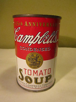 Vintage Tin Advertising Bank Campbells Soup Can 125th Aniversary