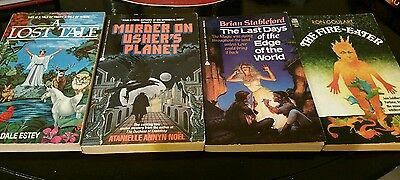 lot of books, science fiction