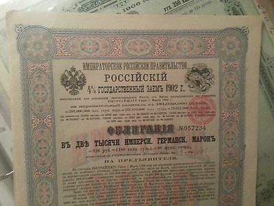 2000 Rm China Russia 4% Bond Boxer Loan China's Contribution +14 Coupons 1902