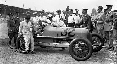 Duesenberg Straight 8 Winner Indy 500 Indianapolis 1927 car race photograph