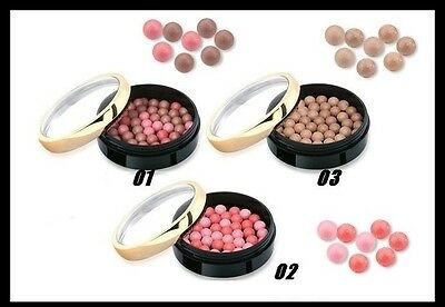 """NEW Golden Rose  Colorful Magical Ball Blusher - Velvety  Effect """"3 Shades"""""""