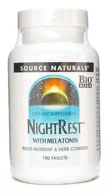 Source Naturals Night Rest with Melatonin - 100 Tablets