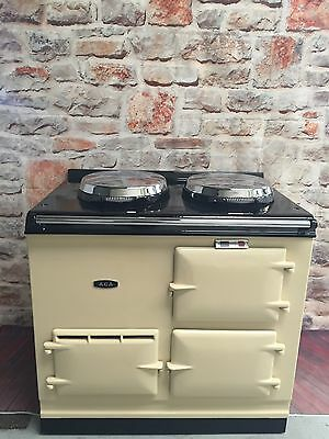 2 Oven 13Amp Electric Aga Cooker In Cream Fully Reconditioned 5 Yr Guarantee
