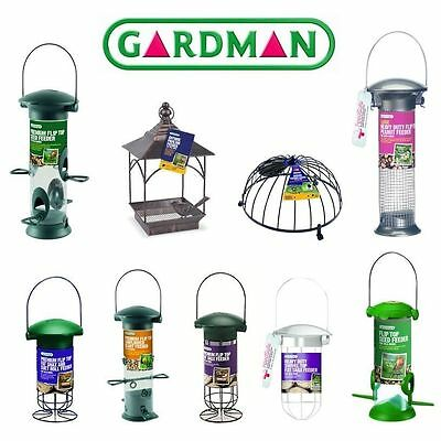 Gardman Bird Feeder Outdoor Garden Hanging Metal Wild Life Care Seed Peanut