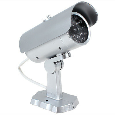 Emulational Decoy Dummy Fake Bullet Security CCTV Camera with Red IR LED Lights