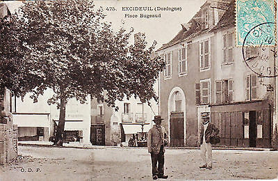 24 -- Excideuil --  Place Bugeaud   Tres Animee   1908