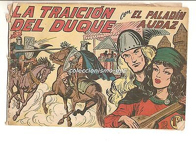 EL PALADIN AUDAZ nº 9 TEBEO ORIGINAL 1957 LA TRAICION DEL DUQUE Editorial Maga