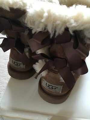 Ugg Boots Bailey Bow Size 12 UK RRP £100