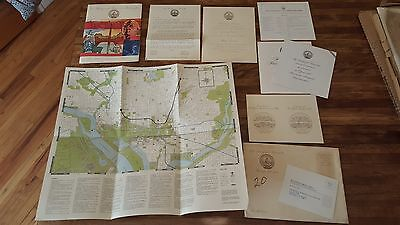 Vintage Jimmy Carter 1977 Inauguration Invitation Packet: guide, program, map