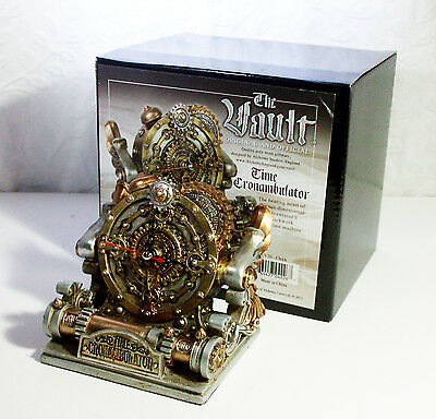 Alchemy Gothic Time Chronambulator - Steampunk Desk Clock  New and Boxed