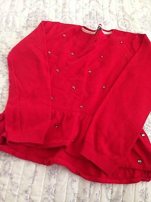 Sparkly Red Girls Jumper Age 9-10 Years