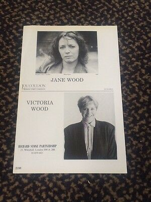 Victoria Wood - very rare original 1988 acting agency Z-card. Acorn Antiques