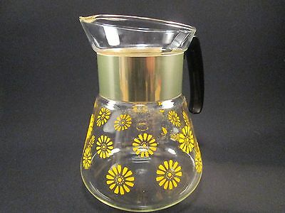 """Vintage Corning Ware """"Flower Power"""" 6 Cup Coffee Pot"""