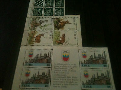 Eire~IReland~Minis Sheets~Millienium/ Definitive/Fauna/  All NEW Perfect MNH