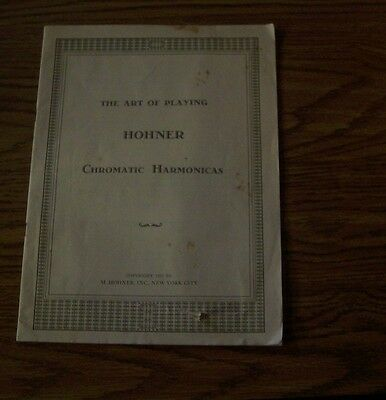 The Art of Playing Hohner Chromatic Harmonicas 1937 booklet