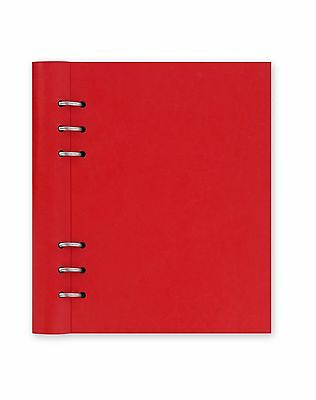 A5 Filofax Poppy Red Clipbook Refillable Notebook Binder Leather Look Cover