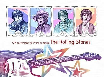 Guinea Bissau 2014 The Rolling Stones Music Band 50th Aniv Debut S/S 14505 s