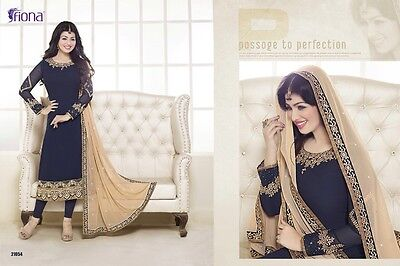 Pakistani Indian Bollywood Shalwar Kameez Designer Dress Semi-stitched Upto 44""