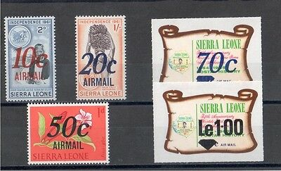 Sierra Leone 1971 Provisional Airmail Issues MM