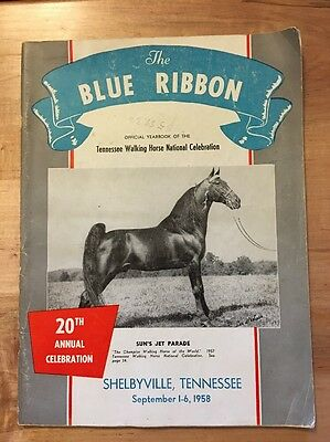 The Blue Ribbon Tennessee Walker / Walking Horse Yearbook 20th Edition (1958)