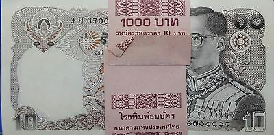 Thailand Banknote Authentic 10 Baht King Rama 9 Collectible Money New Currency
