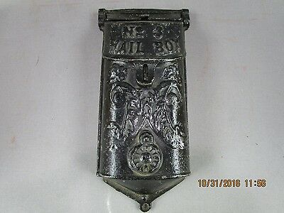 Antique Cast Iron NO.3 Mail Box With Peephole &  Cover Griswold ? 353