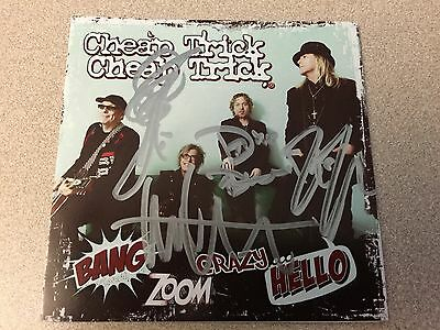 AUTOGRAPHED CHEAP TRICK Bang Zoom Crazy Hello SIGNED CD Booklet