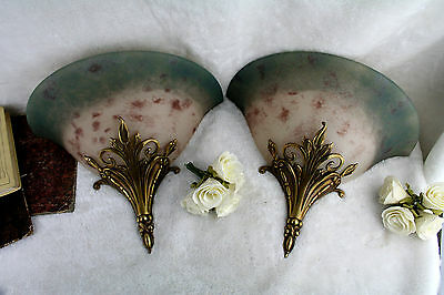 Pair Of Marvellous French Art Deco Sconces 1925 By Vianne Pour Arta - Rare