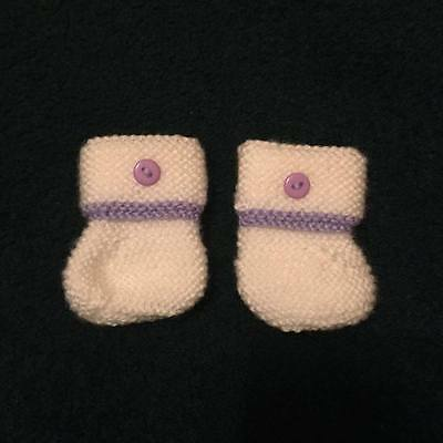 Hand Knitted Baby Boots...premature