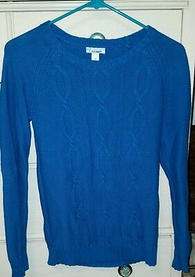Old Navy Girls Blue Pulliver Sweater Cotton Large 10 12