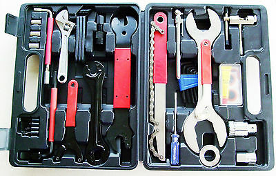 44PC Bike Cycling Bicycle Maintenance Repair Hand Wrench Tool Kit Set and Case