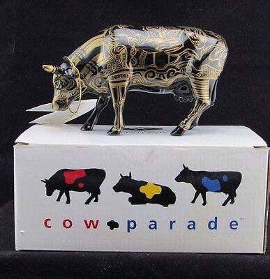 Cow Parade Collectible Cows, Tatooed Bovine, 2000 Retired #9171, New York