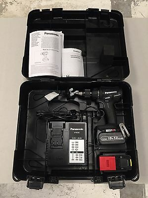 Panasonic Hammer Drill & Driver Kit EY79A2 LJ2G 2 X 18v 5.0Ah Li-ion Batteries