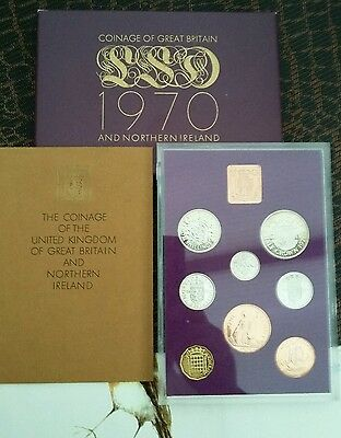 Proof Set of 1970 Pre Decimal Coins in an Impressive Folder and Case