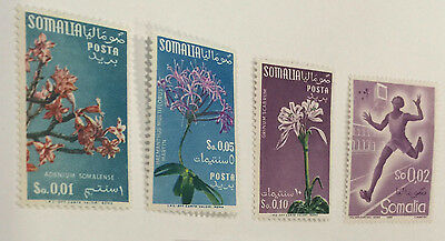 Lot of 4  STAMPS FROM SOMALIA mh 1955 - 58 env307