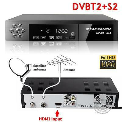 HD COMBO Freeview HD + FreeSat HD Receiver RECORDER DIGITAL TV Set Top Digi Box