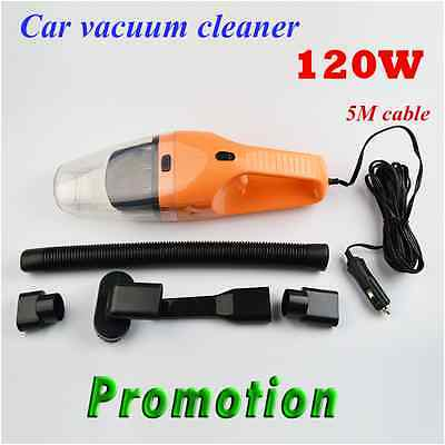 5M 120W 12V Car Vacuum Cleaner Wet Dry Vehicle Wash Portable Mini Handheld Dirt