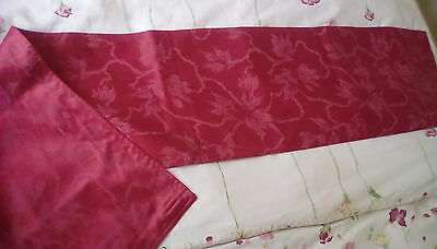 ruby red damask table runner. christmas ( matching placemats available)