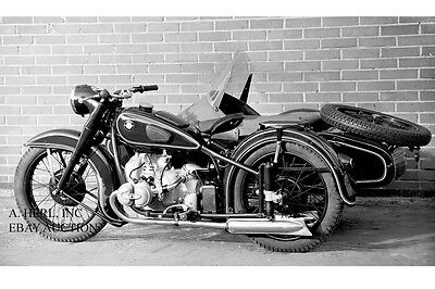 BMW R51/2 with sidecar – introduction BMW R51/2 for new Model Year 1950 - photo