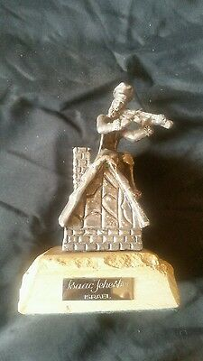 Sterling silver Sculpture  Fiddler on the Roof   Isaac Jeheskel Israel Judaica
