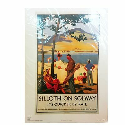 Silloth on Solway  sand dunes 50x70cm Railway Poster