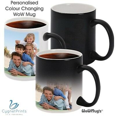Personalised Magic Mug Heat Photo Cup Colour Changing Custom Image Text Logo