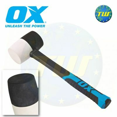 OX Tools 24oz Combination Rubber Mallet White Non Marking Hammer Face T081924