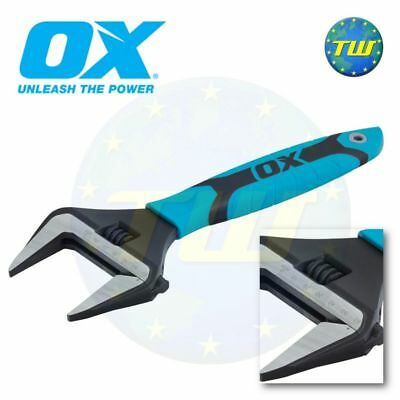 OX Tools Pro 12in Adjustable Wrench 300mm Spanner & Extra Wide 60mm Jaw P324612