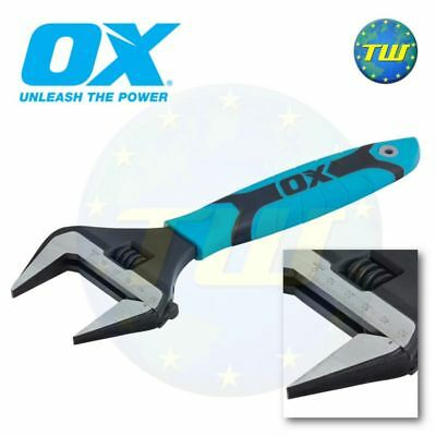 OX Tools Pro 10in Adjustable Wrench 250mm Spanner & Extra Wide 50mm Jaw P324610