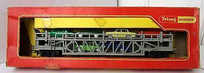 Triang/Hornby R342 car transporter with 6 Minix cars boxed