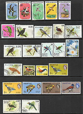 Middle East: A Very Nice Mint & Used Selection of 25-Bird Issues ( Group B)