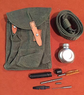 Hungarian 3 pocket 30rd Ak Mag Pouch, Romanian Sling , Cleaning Kit & Oiler